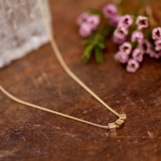 Joulberry Gold Cube Necklace