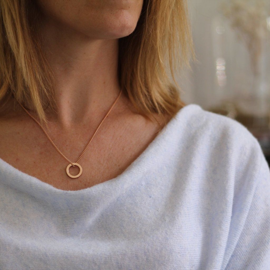 Rose Gold Polo Necklace