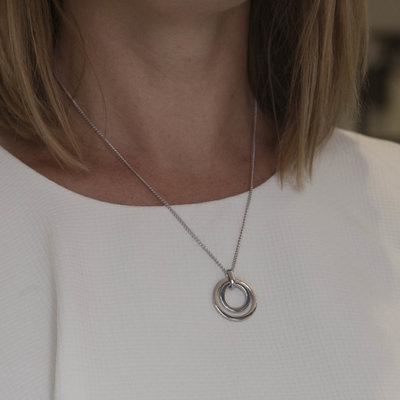 Joulberry White Gold In2you Necklace