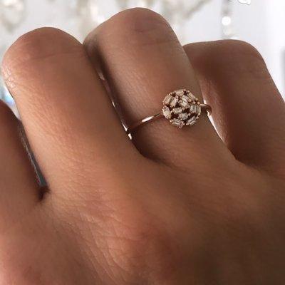 Rose New Moon Diamond Ring