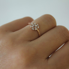 LUNA Rose New Moon Diamond Ring