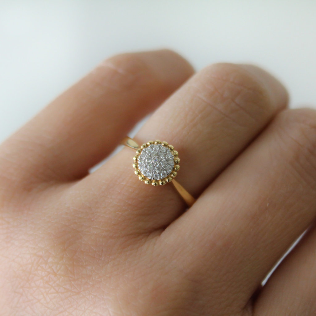 BOHO Gold Diamond Rosa Ring