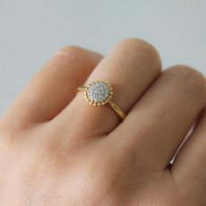 Joulberry Gold Rosa Boho Ring