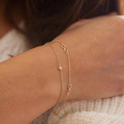 Gold Infinity Chain Bracelet