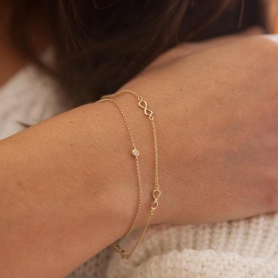 Joulberry Gold Infinity Bracelet