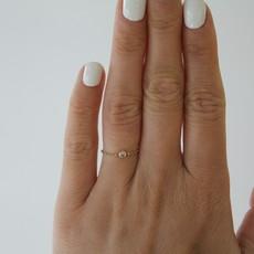 DAISY Gold North Star Diamond Chain Ring