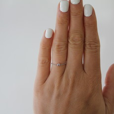Joulberry White North Star Diamond Chain Ring
