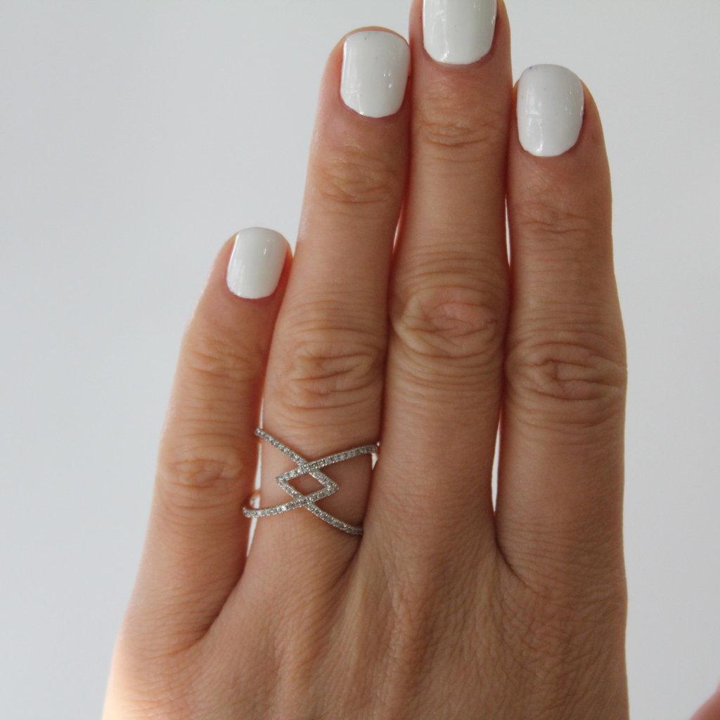 Gold Decodene Diamond Ring