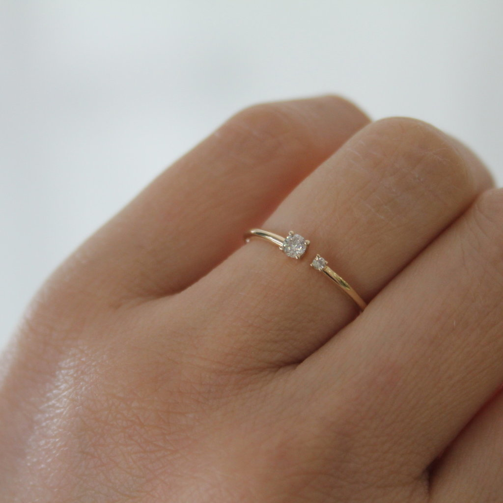 Joulberry Gold Duo Diamond Ring