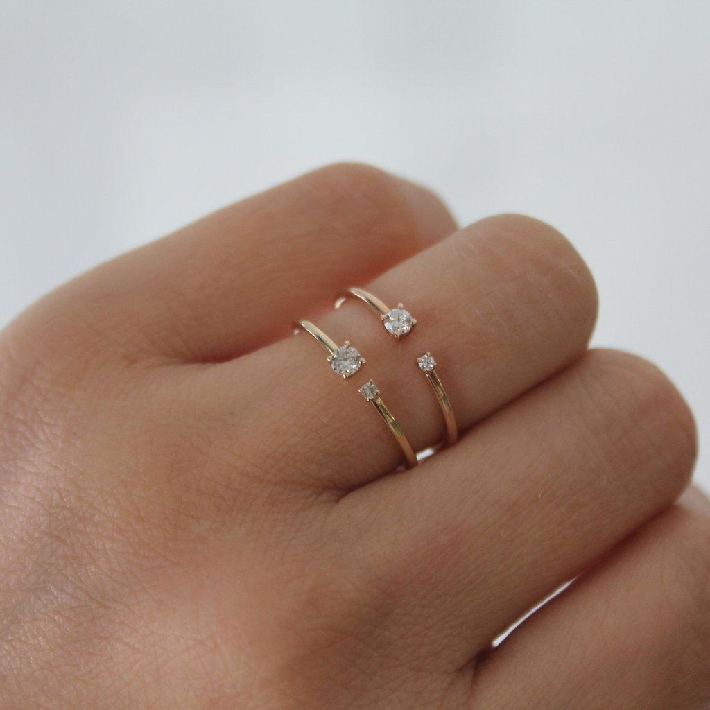 DAISY Rose Gold Duo Diamond Ring