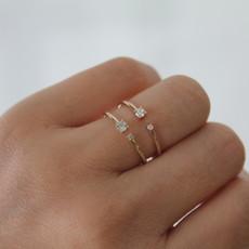 Rose Gold Duo Diamond Ring