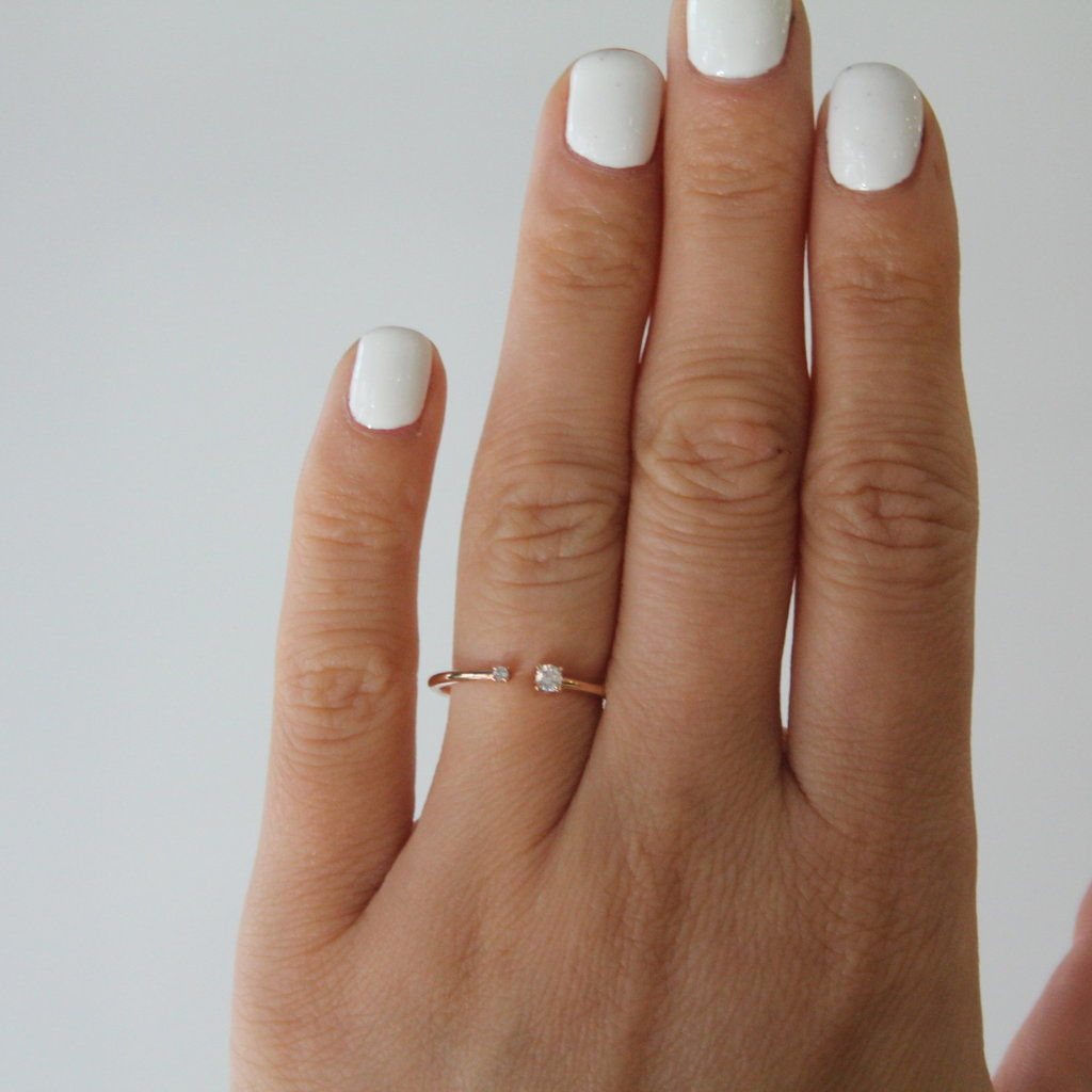 Joulberry Rose Gold Duo Diamond Ring