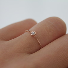 Joulberry Rose North Star Diamond Chain Ring