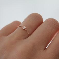 DAISY Rose North Star Diamond Chain Ring