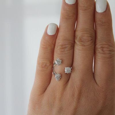 LUNA White Gold Constellation Ring