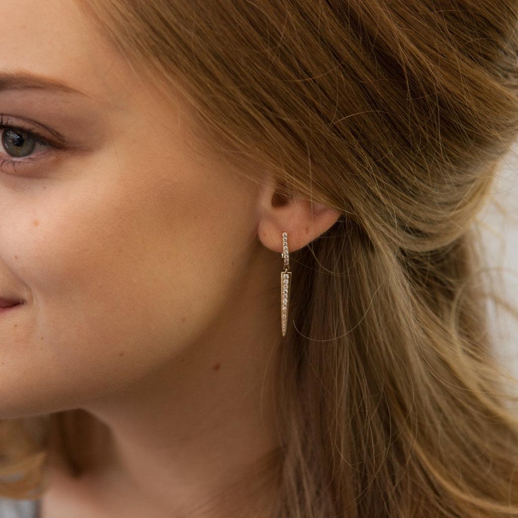 Joulberry Gold Diamond Ocean Earrings