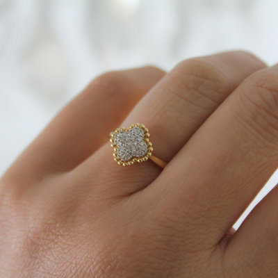 Gold Rebecca Diamond Boho Ring