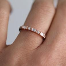 Joulberry Rose Sette Diamond Ring