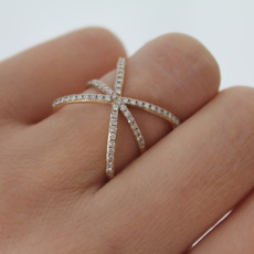 Gold Diamond Megan Star Ring