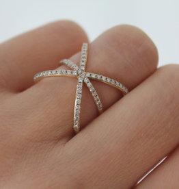 Joulberry Gold Diamond Magen Star Ring