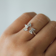 White Gold Butterfly Ring