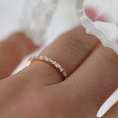 Joulberry Gold Diamond Diez Eternity Ring