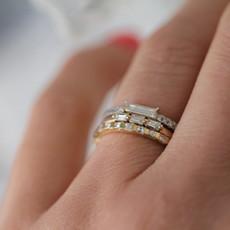 Joulberry Gold Diamond Diez Eternity Ring