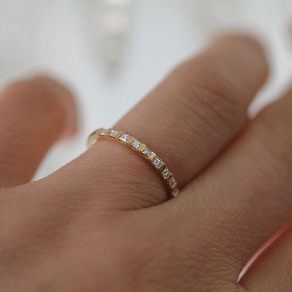 Gold Diamond Diez Eternity Ring