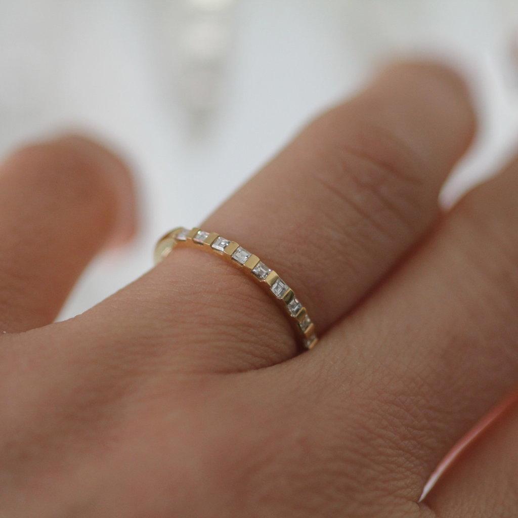 TATE Gold Diamond Diez Eternity Ring