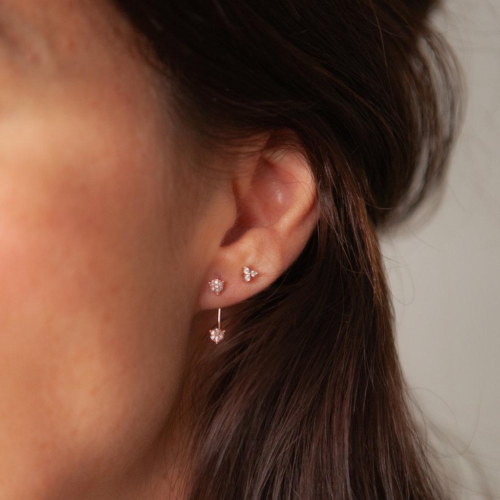 BARDOT Rose Duo Bar Diamond Earrings
