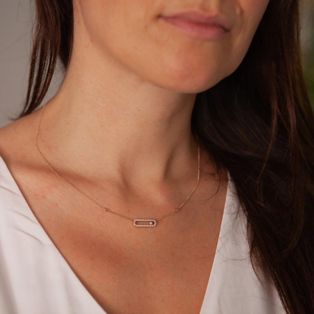 TATE Gold Sliding Diamond Necklace