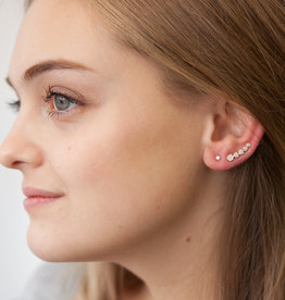 Joulberry Gold Diamond Climber Earrings