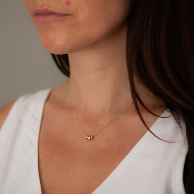 Joulberry Gold Nova Tri Necklace