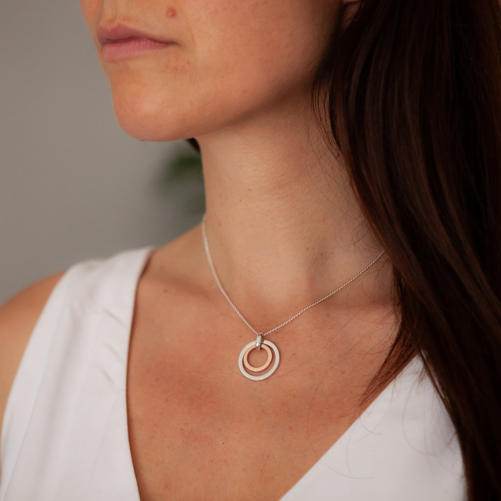 Joulberry Silver and Rose Gold In2you Necklace