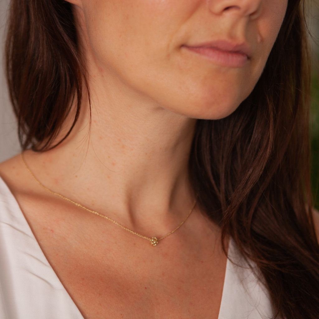 Gold Infinity Ball Necklace