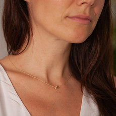 Joulberry Gold Infinity Ball Necklace