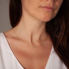 BOHO Gold Lilly Bar Necklace