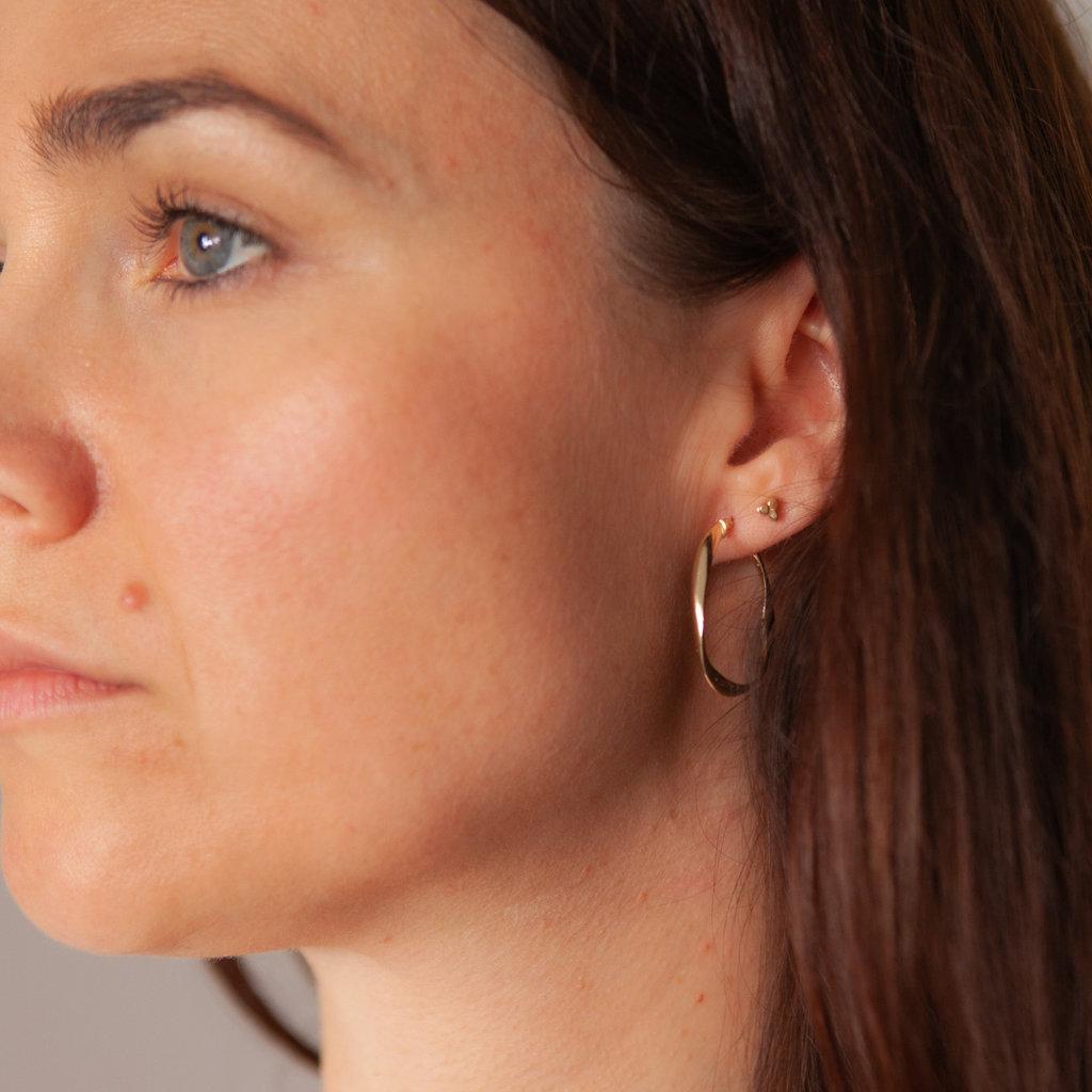 Gold Flo Large Hoop Earrings