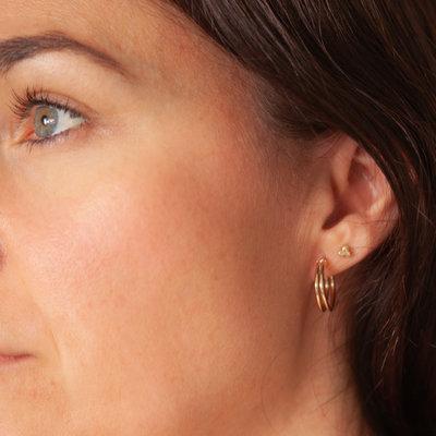 Joulberry Gold Lola Double Hoop Earrings