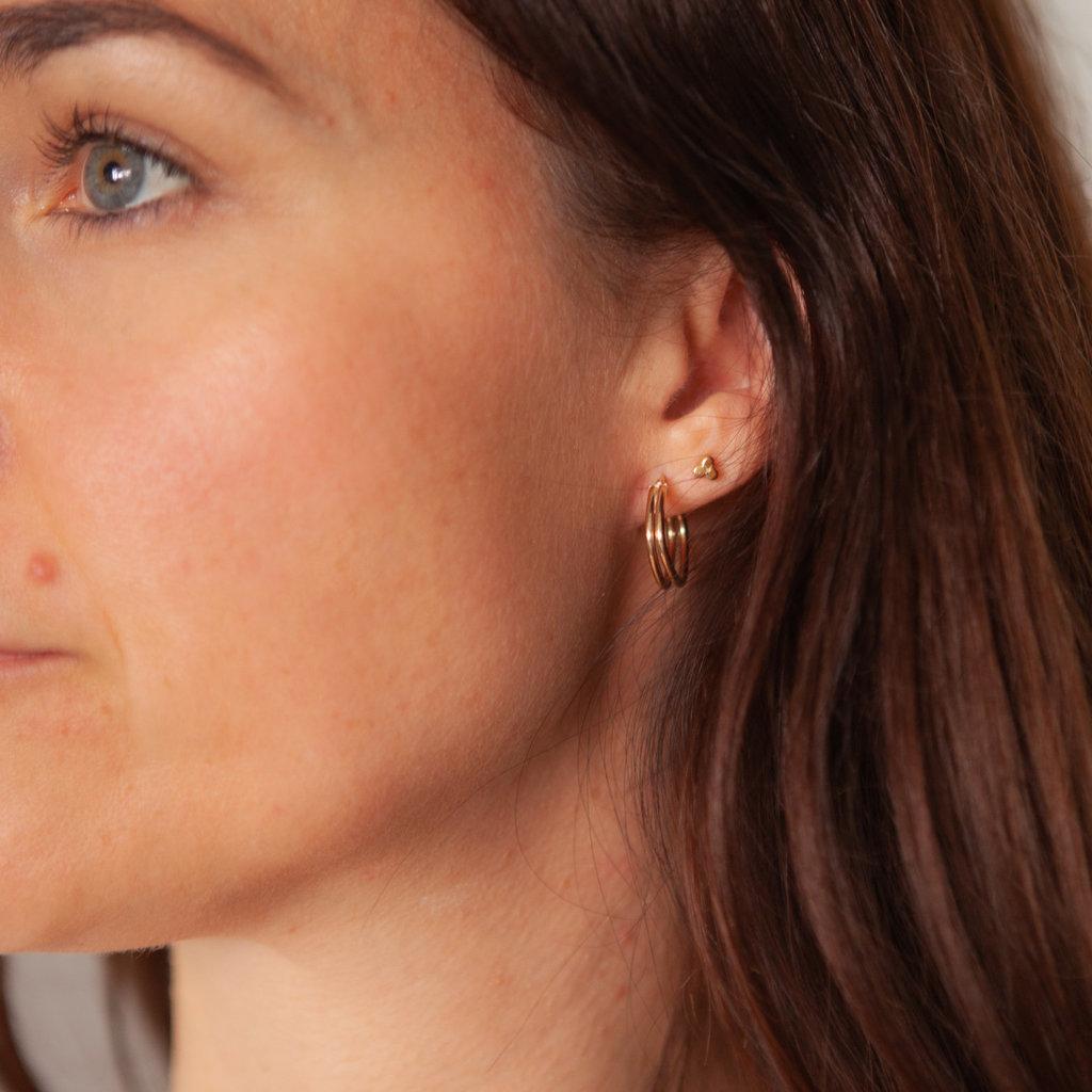 Gold Lola Geo Hoop Earrings