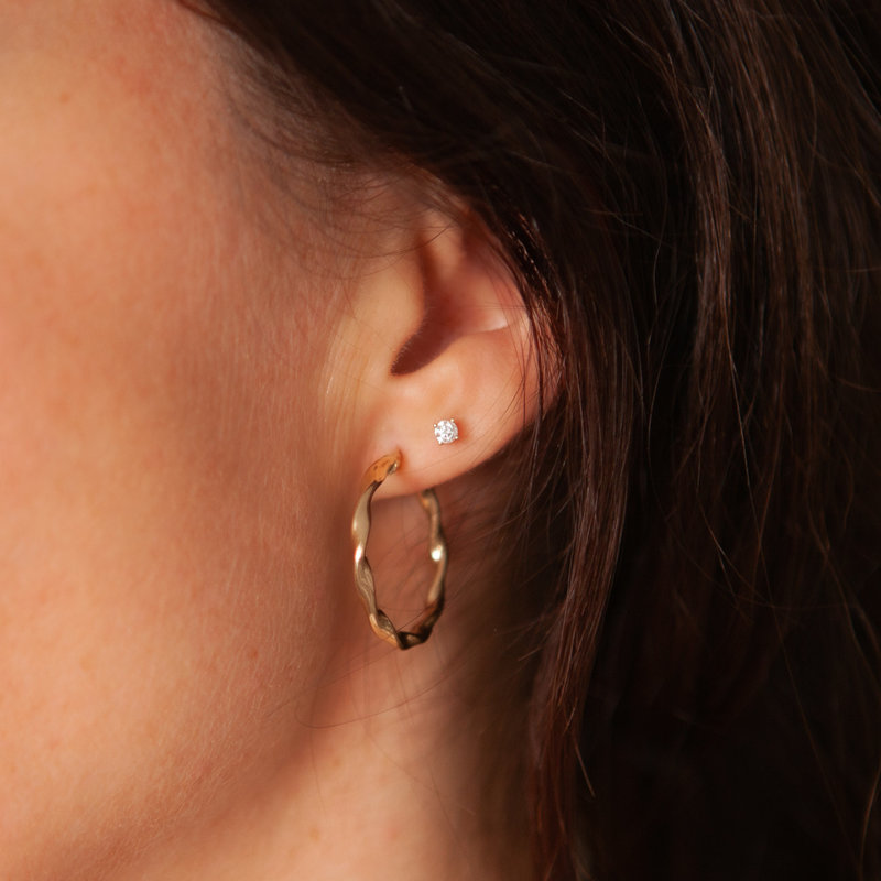 BOHO Gold Twist Hoop Earrings