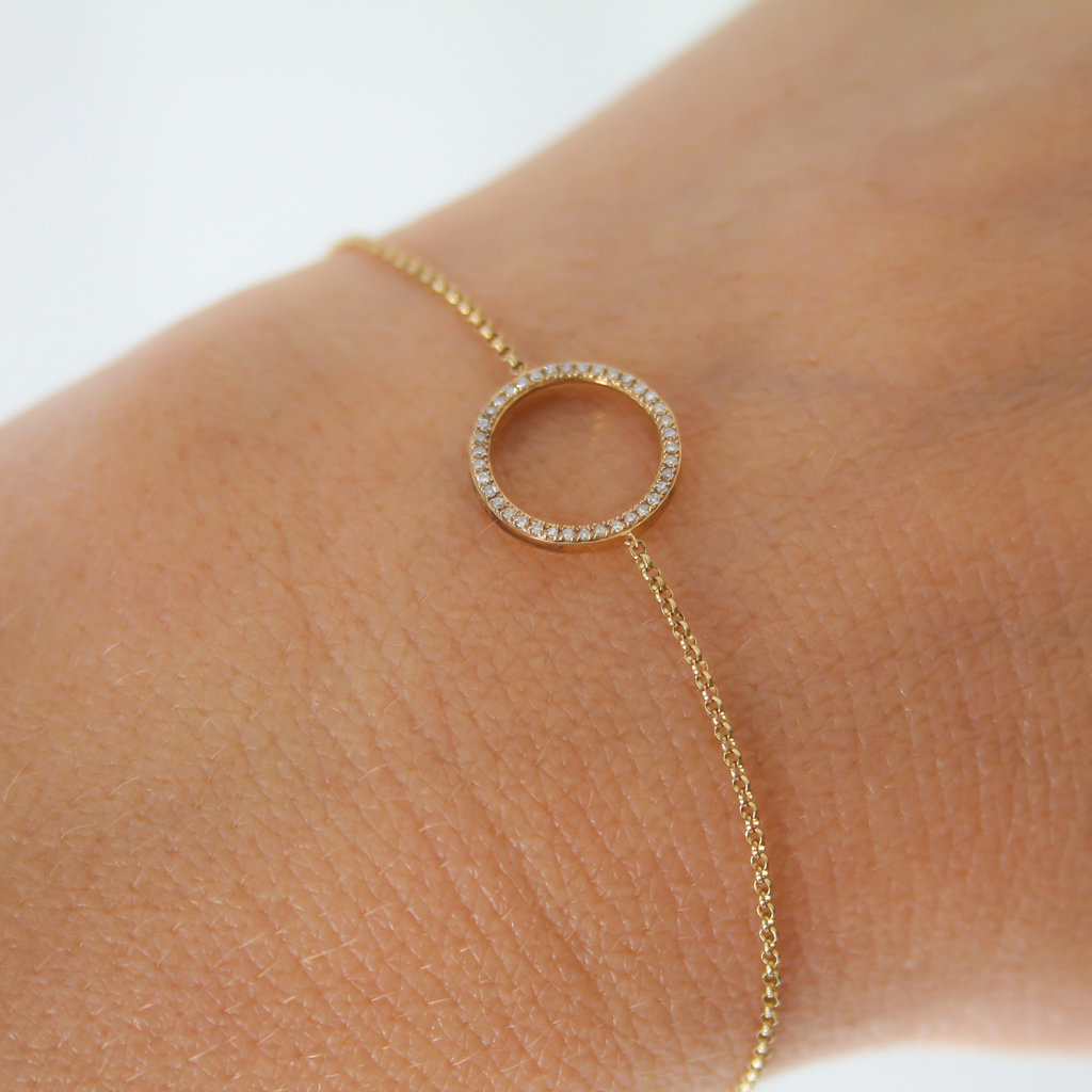 Joulberry Gold Diamond New Moon Bracelet