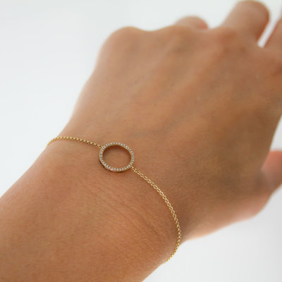 LUNAR Gold Diamond New Moon Bracelet