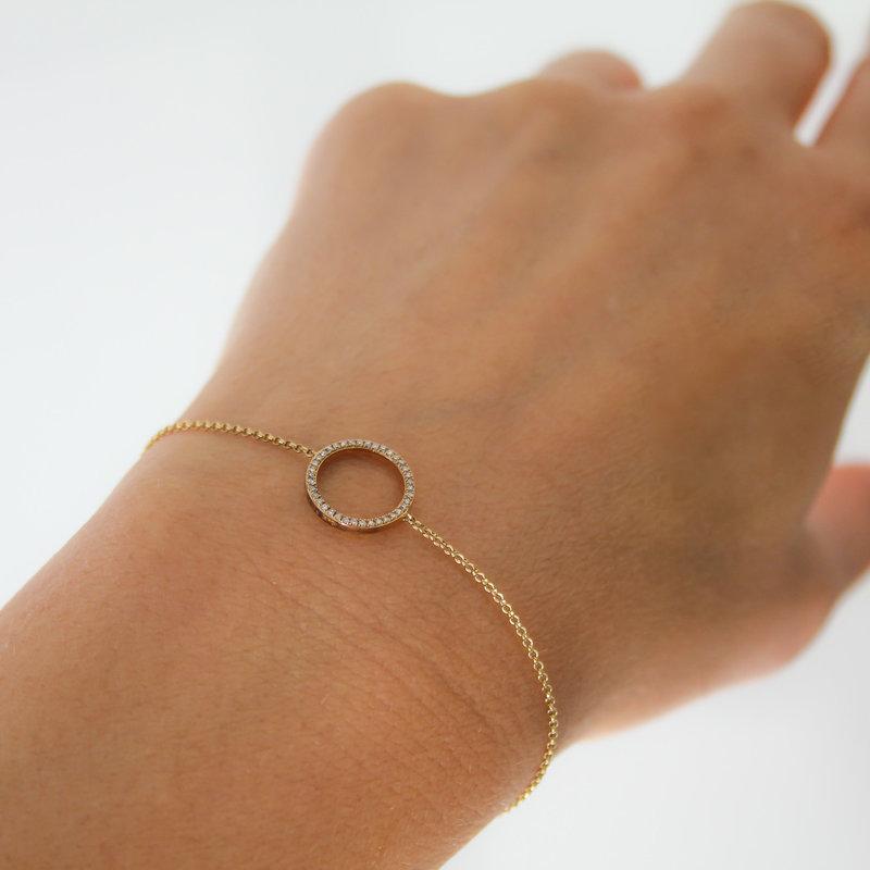 LUNA Gold Diamond New Moon Bracelet