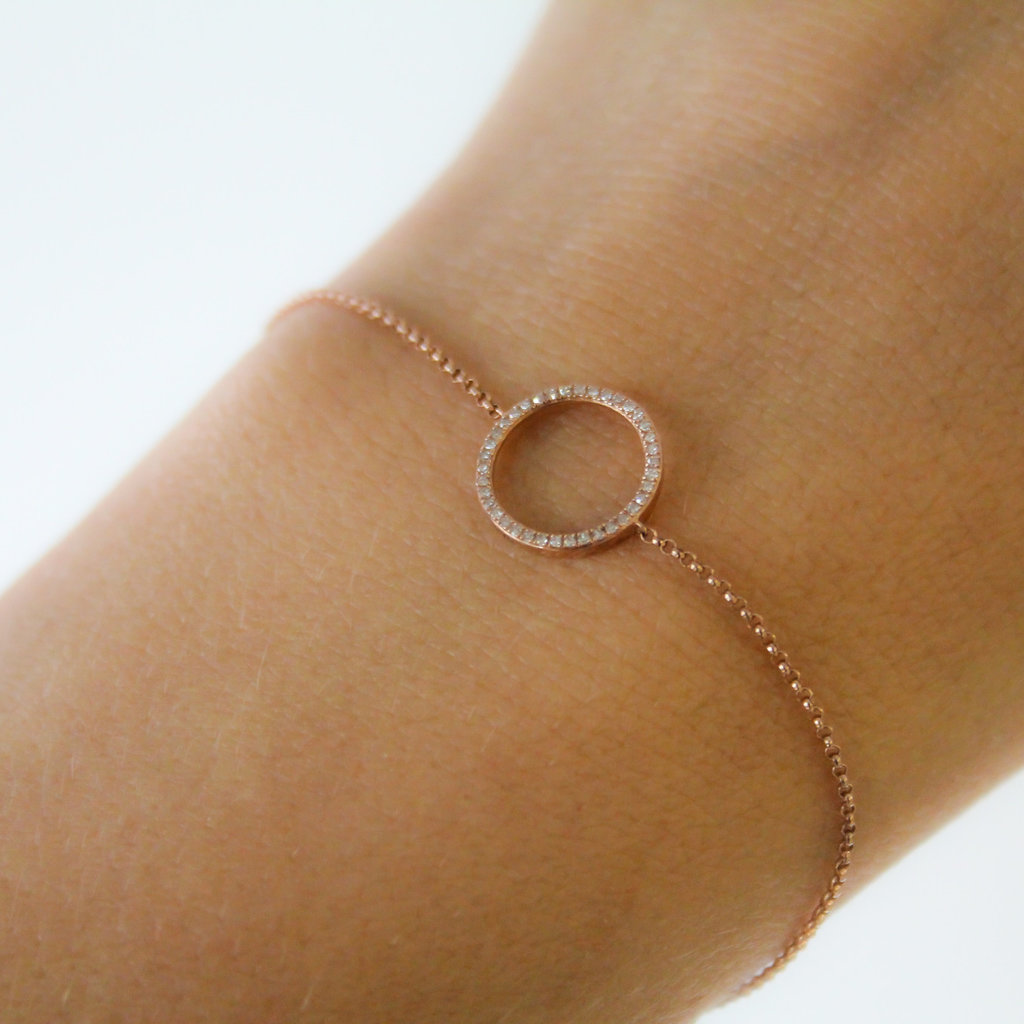 Joulberry Rose New Moon Diamond Bracelet