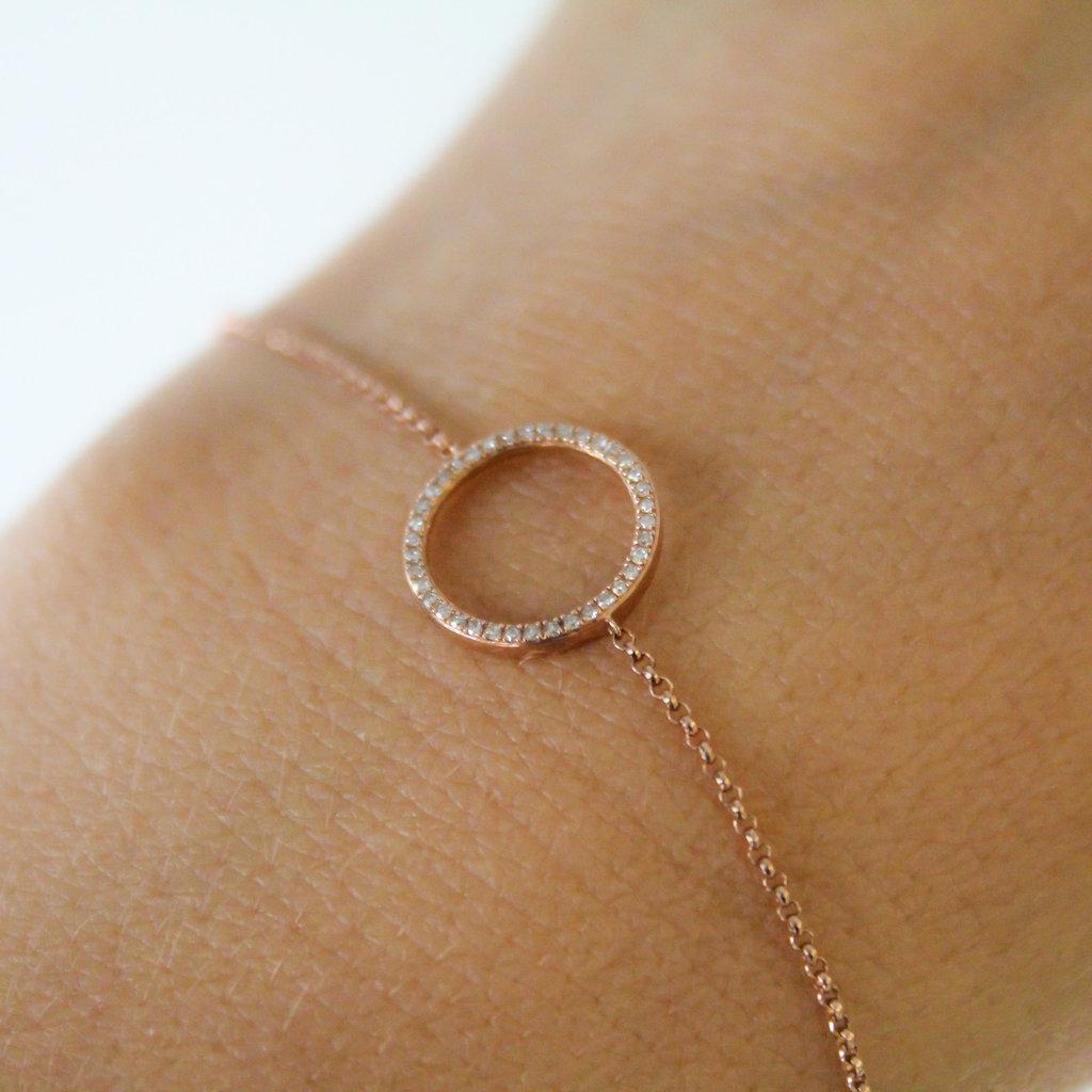 LUNAR Rose New Moon Diamond Bracelet