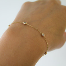 Gold Quinate Diamond Bracelet