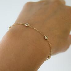 Joulberry Gold Quinate Diamond Bracelet