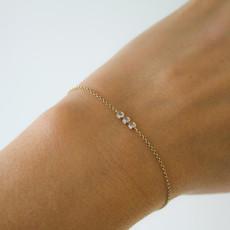 Joulberry Gold Tri Diamond Bracelet