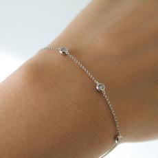 White Gold Quinate Diamond Bracelet